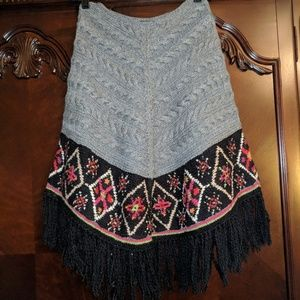 "Vintage Harold""s Hand Knit Poncho"